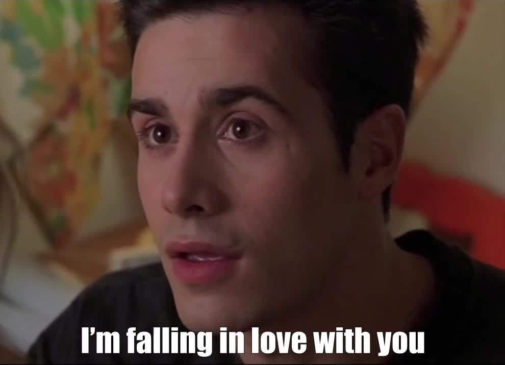I love you, falling in love, freddie prinze jr, in love, love, I'm falling in love with you GIFs