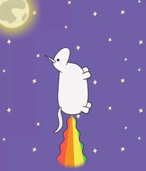 Watch and share Unicorn In The Sky, I Can Fly Twice As High GIFs by Kielty on Gfycat