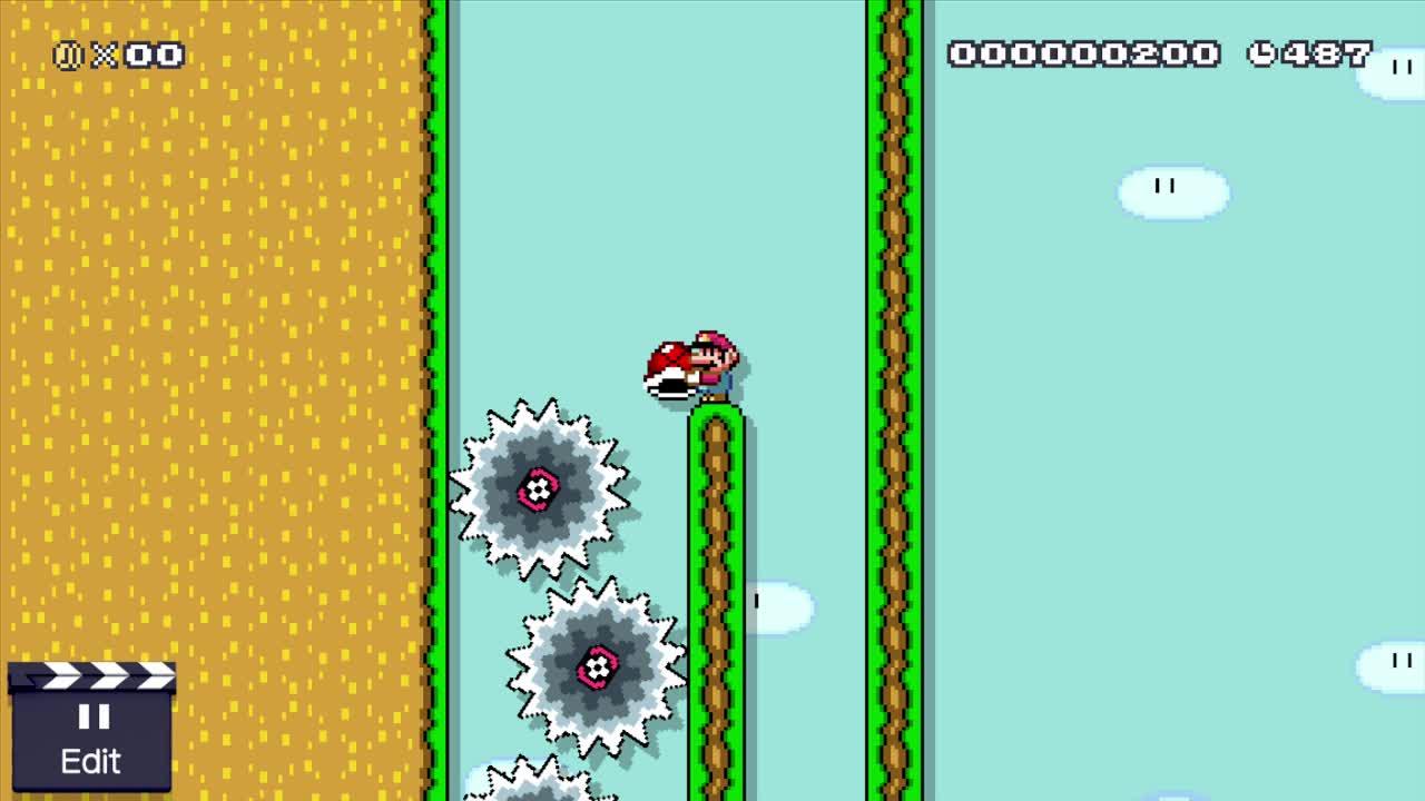 MarioMaker, mariomaker, Interesting Shell Jump 1 GIFs