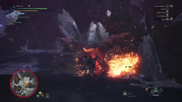 Watch GET DOWN MR. PRESIDENT! GIF by @xerapher on Gfycat. Discover more Monster Hunter, Monster Hunter World, Monster Hunter: World, Nergigante, Supernova, Teostra GIFs on Gfycat