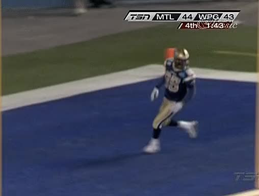 Watch Hop (2005) GIF by Archley (@archley) on Gfycat. Discover more 2005, Alouettes, Blue Bombers, CFL, Canad Inns Stadium, Celebration, Football, Milt Stegall, Montreal, W5, Winnipeg GIFs on Gfycat