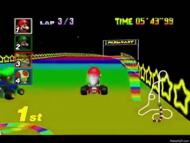 Watch and share N64 Longplay: Mario Kart 64 - Victory Robbed GIFs on Gfycat