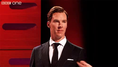 Watch and share Benedict Wax Figure GIFs and Graham Norton Show GIFs on Gfycat
