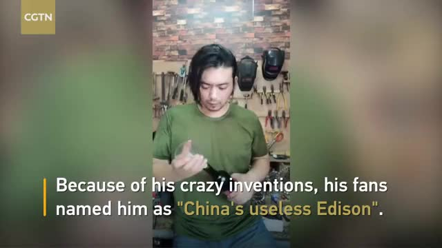Watch Chinese man becomes online celebrity for inventing 'useless' stuff GIF on Gfycat. Discover more Edison, Useless, cctv, cctvnews, cgtn, chinanews, inventions, livestreaming, news GIFs on Gfycat