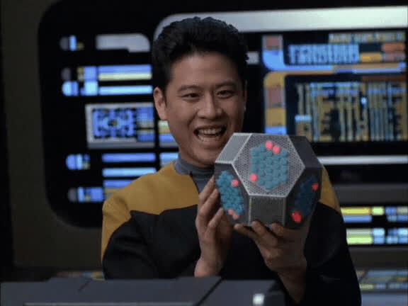 AnneBancroftsGhost, Garrett Wang, Harry Kim, Star Trek, Star Trek Voyager, Think Tank, VOY, Voyager, mrw I push a change to my project GIFs