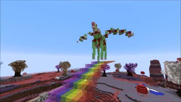 minecraft, Pink Fluffly Robot Pegasus Unicorn GIFs
