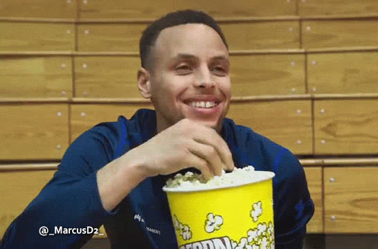steph curry, stephen curry, Steph Curry eating popcorn GIFs