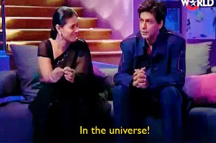Watch and share Shahrukh And Kajol GIFs and Koffee With Karan GIFs on Gfycat