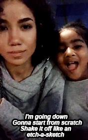 ^, fifth harmony, her daughter is so adorable, jhene aiko, lauren jauregui, this is literally the most adorable thing i've ever seen, @LaurenJauregui: @JheneAiko Why does she sing better than I  GIFs