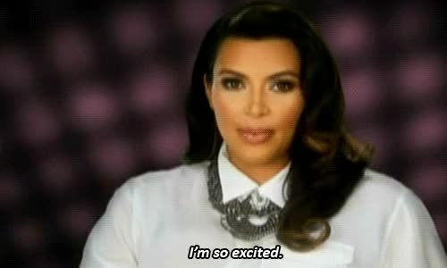 "Watch and share But Is She Really? Kim Kardashian Is ""excited"" GIFs by Reactions on Gfycat"