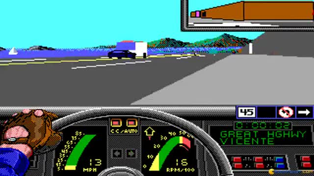 Watch Vette! gameplay (PC Game, 1989) GIF on Gfycat. Discover more 1989, City race, Dos (Operating System), Dosbox, Download, Driving, PC Game, Spectrum Holobyte, Vette! (Video Game), racing Game (Video Game Genre) GIFs on Gfycat