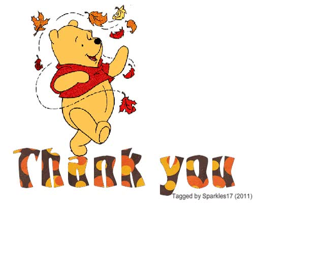 Watch and share Glitter Text Thank You Winnie The Pooh Thank You GIFs on Gfycat