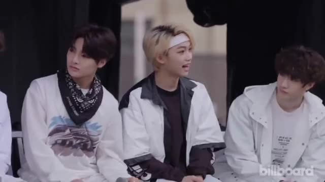 Watch Felix GIF on Gfycat. Discover more 2018, Billboard, KCON, Pentagon, convention, heize, interviews, k-pop, kcon18ny, kcon2018ny, kconusa, kpop, letskcon, music, newark, official, panel GIFs on Gfycat