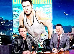 Watch and share Jimmy Kimmel GIFs and Chris Pratt GIFs on Gfycat