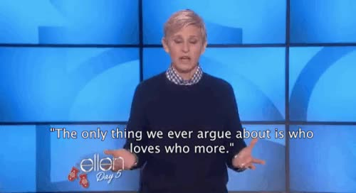 Watch and share The Ellen Degeneres GIFs and Relationship Goals GIFs on Gfycat