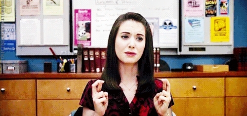 alison brie, fingers crossed,  GIFs