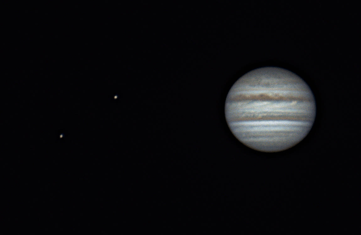 r/sciences, 2.5 hours of Jupiter rotation along with two Galilean moons. GIFs