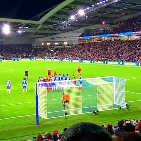Watch WOW Best Free Kick Goal Philippe Coutinho | Brighton vs Liverpool 02/12/2017 GIF on Gfycat. Discover more Brighton & Hove Albion vs Liverpool highlights, Brighton vs Liverpool, Philippe Coutinho, anfield, free kick, liverpool GIFs on Gfycat