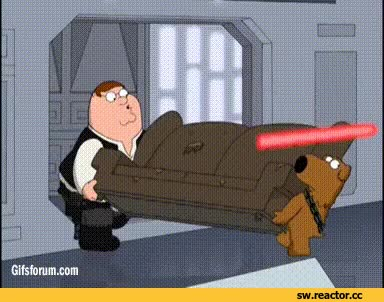 Watch and share Family Guy Star Wars GIFs on Gfycat