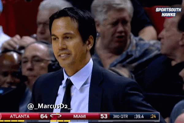 Watch and share Erik Spoelstra Reaction Weird Faces GIFs by MarcusD on Gfycat