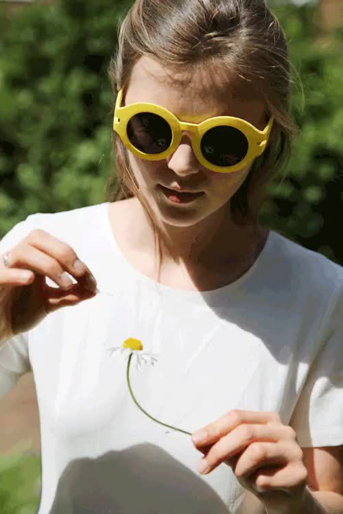 Watch Beat the blazing sun at it's own game with theseRetro Round  GIF on Gfycat. Discover more Accessories, EAST LONDON, London, Retro Style, Summer, Sunglasses, THE WHITEPEPER, TWP, accessory, eyewear, round frame glasses, yellow GIFs on Gfycat