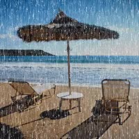 Watch and share Rainy Day On The Beach Gif GIFs on Gfycat
