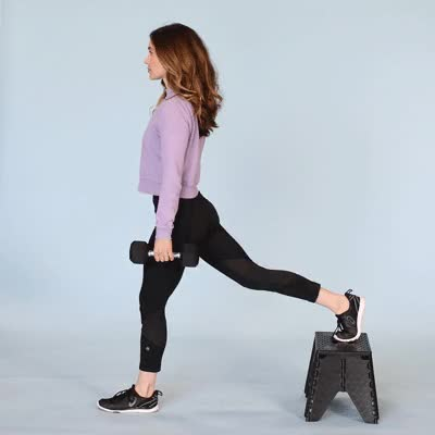 Watch and share 400x400 Alternatives To Leg Extension Exercises Bulgarian Split Squat With Dumbbells GIFs by Healthline on Gfycat