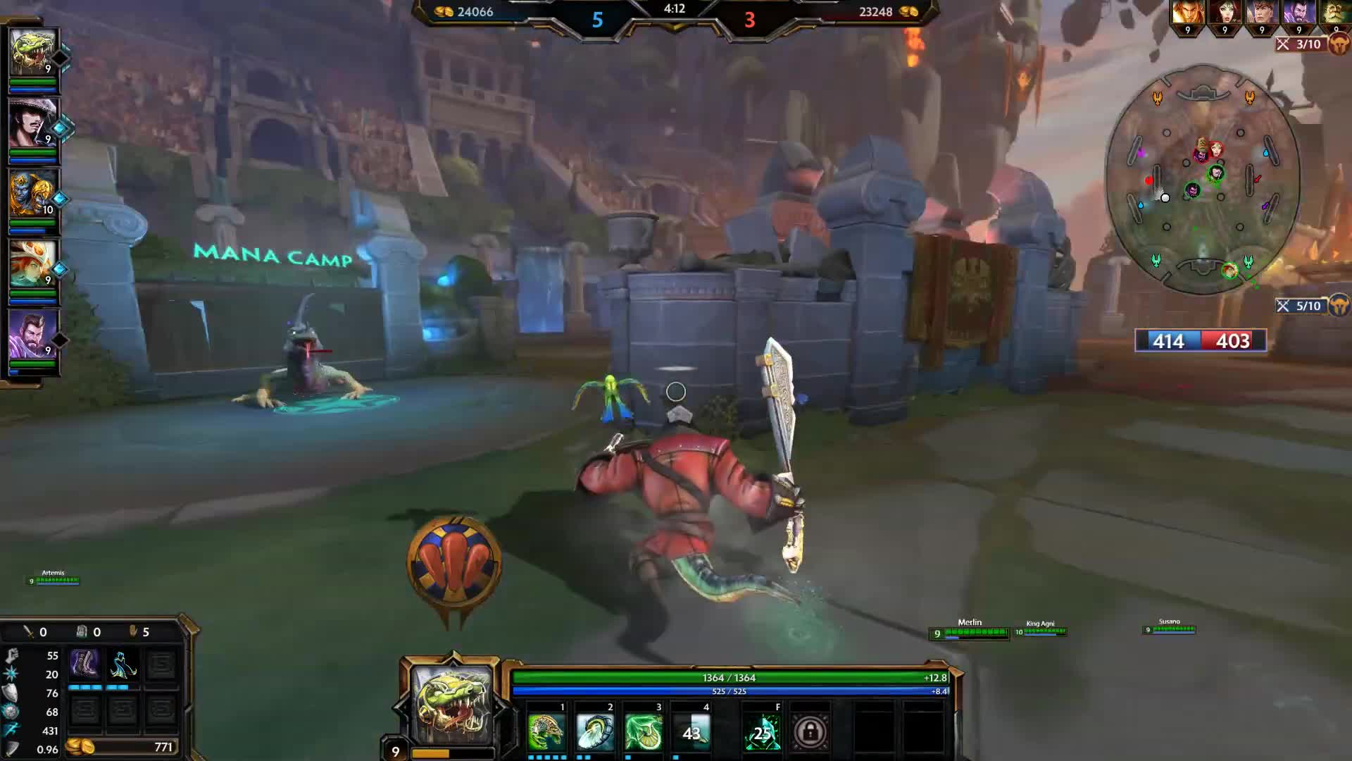Hi-Rez Studios, MMO, PVP, T Content, Titan Forge Games, indie, multiplayer, multiplayer game, online multiplayer, player vs player, Smite : TICK TOCK CROCK   Sobek Gameplay #Smite GIFs