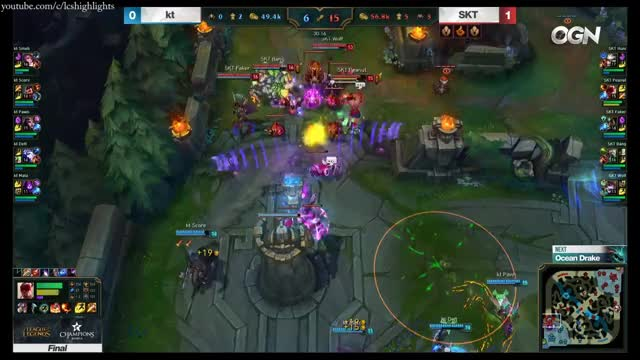 SKT vs KT Game 2 Highlights 2017 LCK SPRING SPLIT FINAL