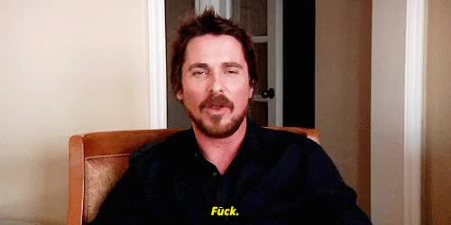 Watch and share Christian Bale GIFs and Fuck GIFs on Gfycat