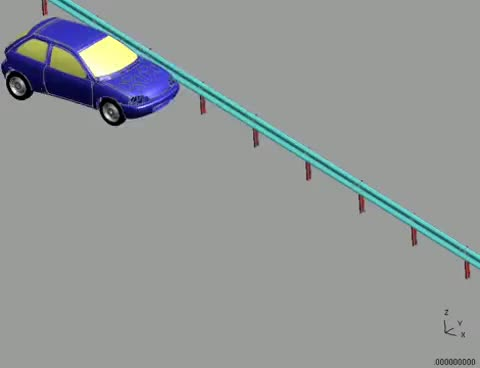 Watch and share The FEA Simulation Of Vehicle Barrier Collision ( Flexible Barrier ) GIFs on Gfycat