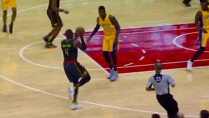 Watch and share Paul Millsap And Dwight Howard — Atlanta Hawks GIFs by Off-Hand on Gfycat