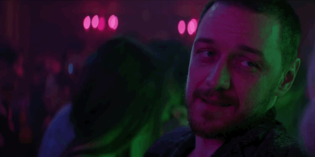 atomic blonde, coy, james mcavoy, smile, Atomic Blonde - James McAvoy Smile GIFs