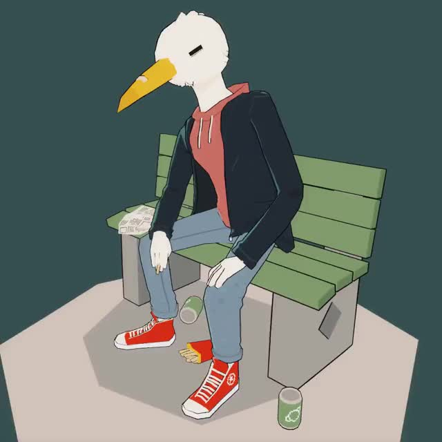 Watch Street Gull GIF by @slam_nine on Gfycat. Discover more 3d, art, bird, fashion, urban GIFs on Gfycat
