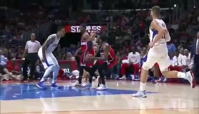 Watch and share John Wall Spins Around Matt Barnes With Mid-Air 360! GIFs on Gfycat