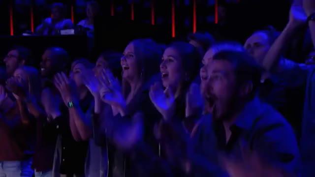 Watch Aaron Crow Dangerously Shoots Apple Off Heidi Klum's Head - America's Got Talent 2018 GIF on Gfycat. Discover more AGT, celebs, omg, simon cowell GIFs on Gfycat