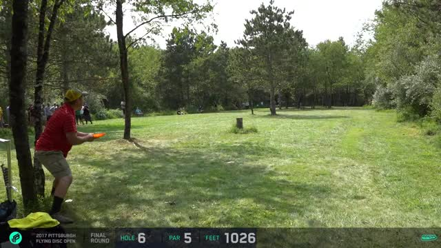 Watch 2017 Pittsburgh Flying Disc Open | Bennett huge forehand roller | round 4, hole 6 GIF by Ultiworld Disc Golf (@ultiworlddg) on Gfycat. Discover more related GIFs on Gfycat
