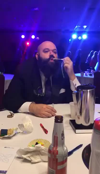 Watch and share Ferocious Bearded Man Vs. Bubbles GIFs on Gfycat