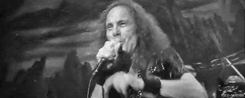 Watch and share Ronnie James Dio GIFs and Black Sabbath GIFs on Gfycat
