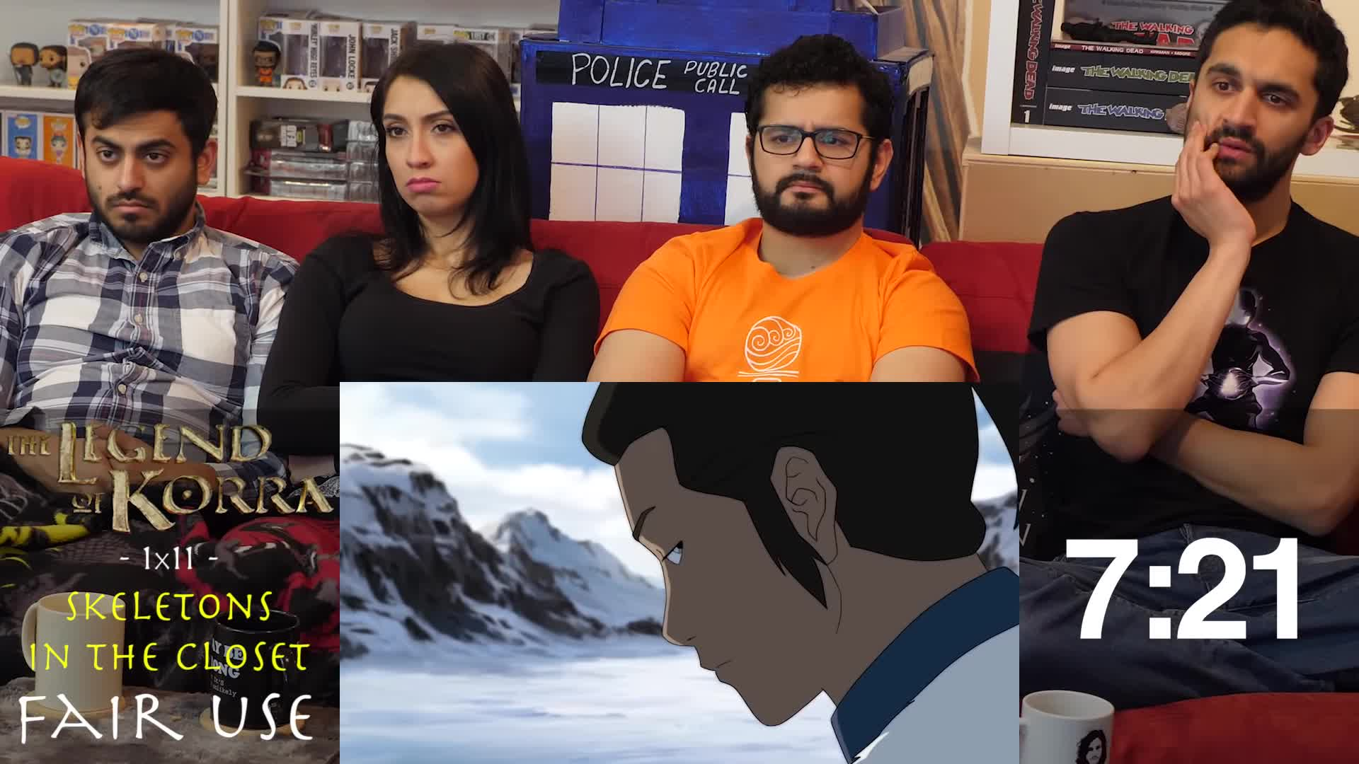 The Legend Of Korra 1x11 Skeletons In The Closet Group Reaction Gif