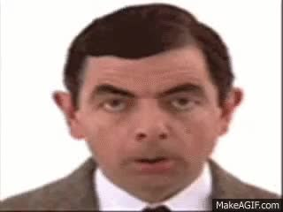 Watch and share Funny Face Of Mr.bean GIFs on Gfycat