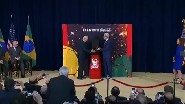 Watch and share Biden And Kerry Applaud The World Cup GIFs on Gfycat