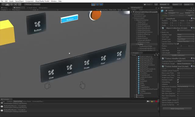 Watch and share MRTK UX InteractableObject Toolbar GIFs by Dong Yoon Park on Gfycat