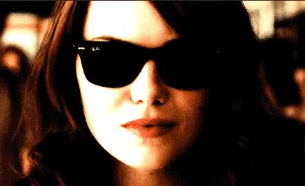 Watch this emma stone GIF by ioanna on Gfycat. Discover more coming, drama, emma, emma stone, flirt, hot, kiss, my, on, quenn, sexy, stone, sunglasses, way GIFs on Gfycat