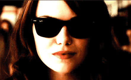 coming, drama, emma, emma stone, flirt, hot, kiss, my, on, quenn, sexy, stone, sunglasses, way, Sexy Emma GIFs