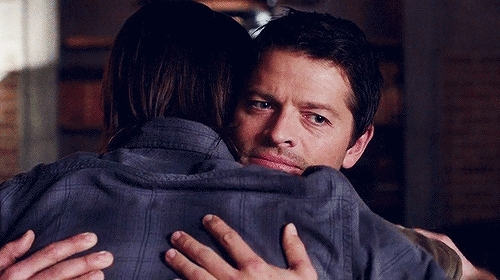 clingy, hugs, imagine castiel, Imagine Castiel clinging to you whenever he's upset I Can Be GIFs