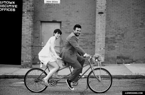 Watch and share Tandem Bike GIFs and Wedding Gif GIFs on Gfycat