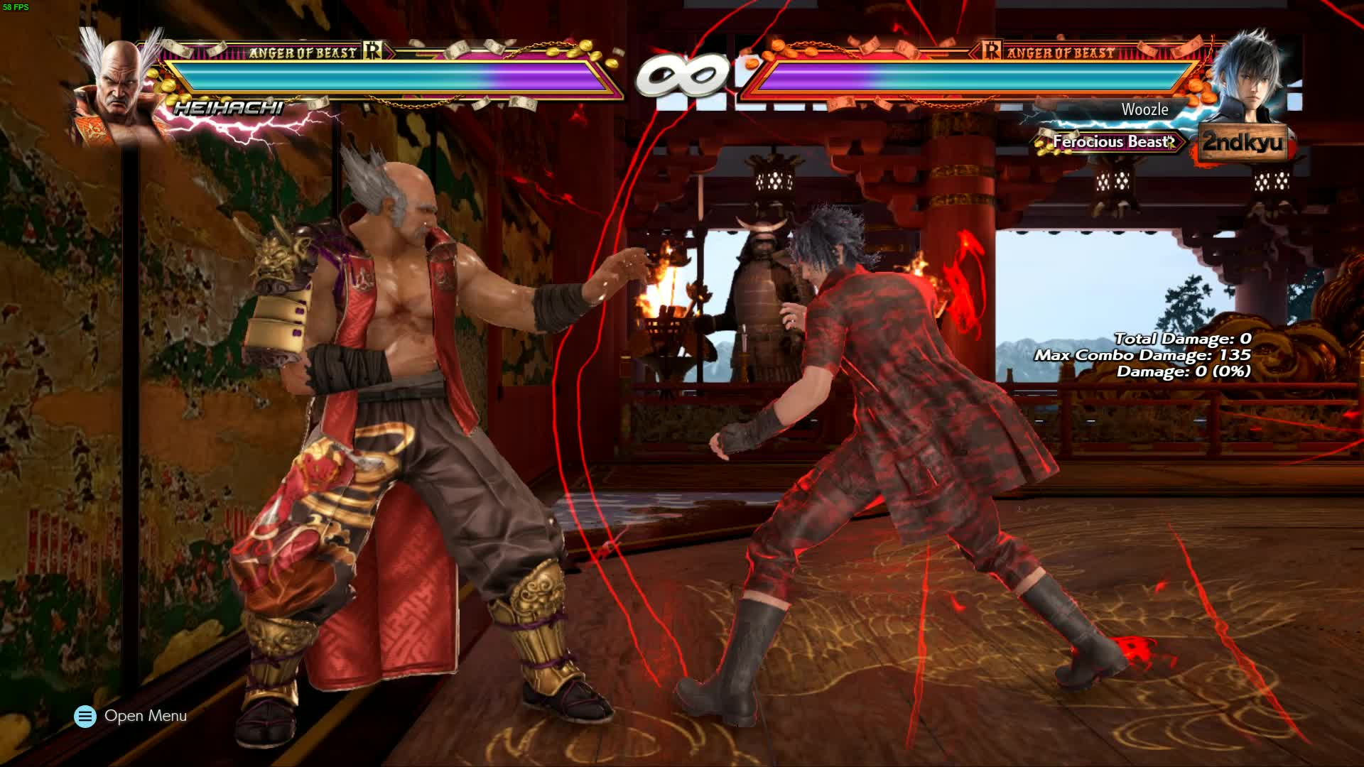 combo, noctis, tekken, My First all walls and balcony break combo on geese stage GIFs