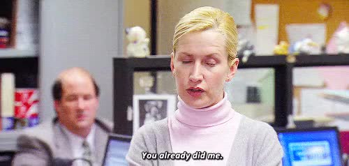 Watch and share Conflict Resolution GIFs and Angela Kinsey GIFs on Gfycat