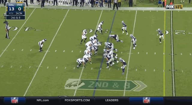 That would be two targets for Cooper, two drops. BUT HE'S A GREAT BLOCKER!!!